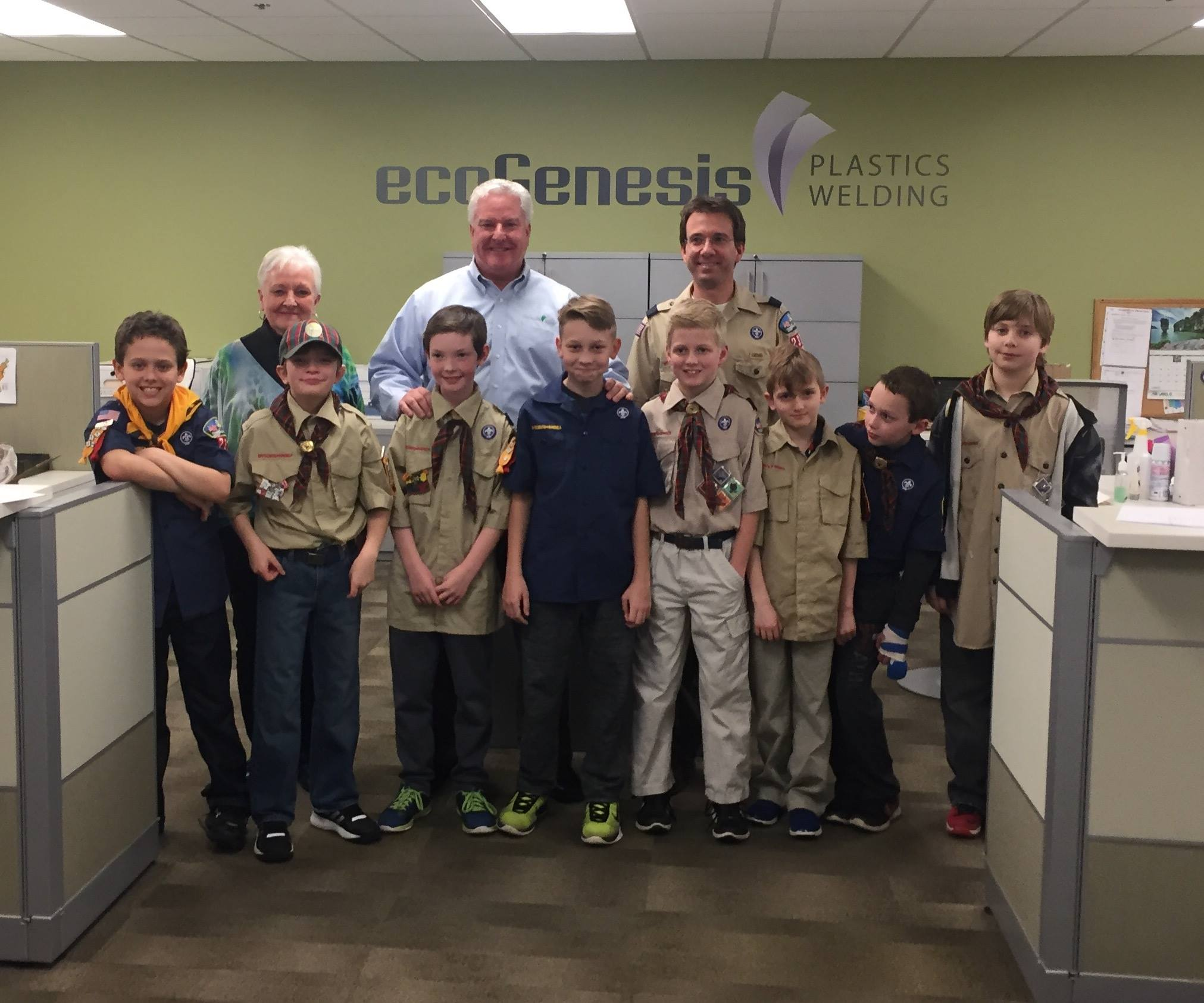 Genesis Plastics Welding hosts Boy Scouts on Manufacturing Day